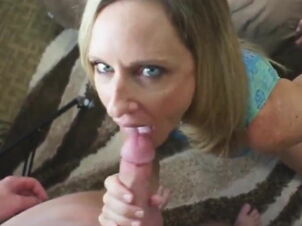 Mom swallowing cum