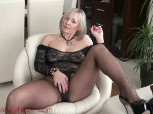 Leather milf